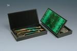 Подарочный набор: ручка, лупа, нож для резки бумаги в футляре.